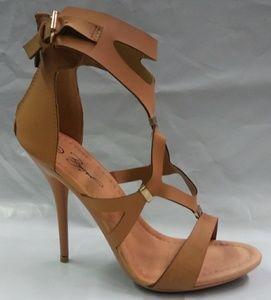 Women's Faux Leather Camel Stiletto Heel